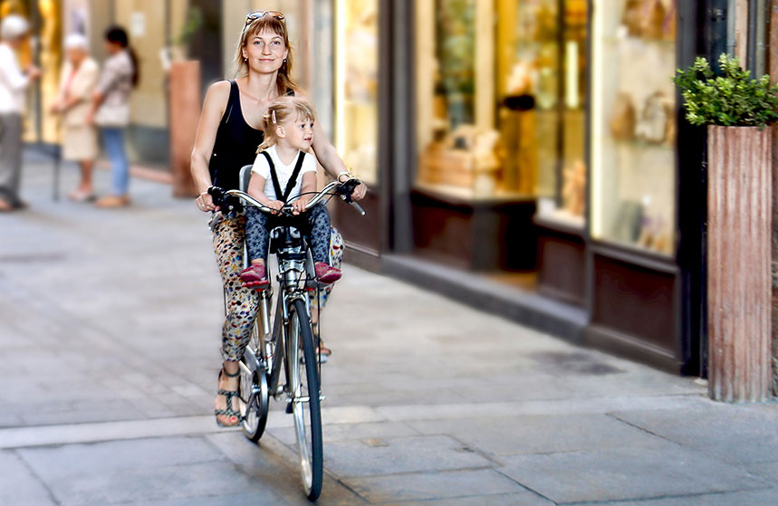 Testa frontmonterad cykelsits